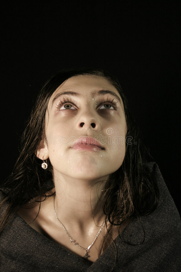 The Crying Girl Stock Images