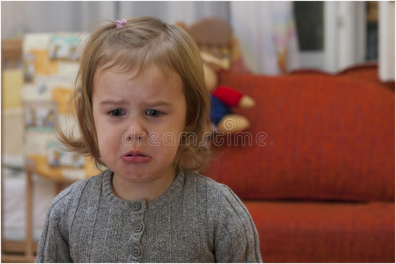Crying girl. royalty free stock photography