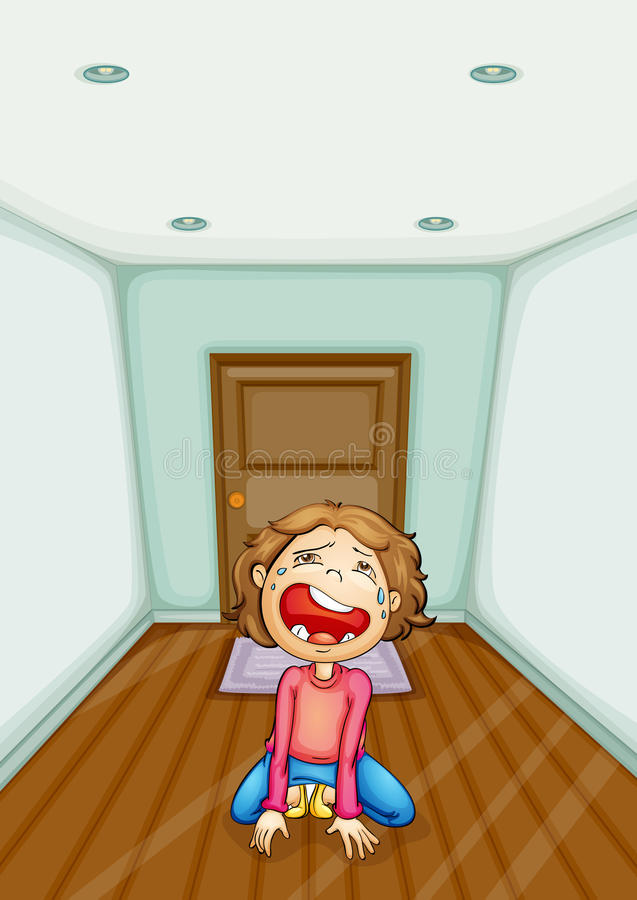 Download Crying at home stock illustration. Illustration of pain - 27179161
