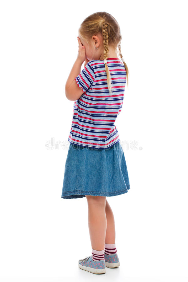 Crying little girl royalty free stock photo