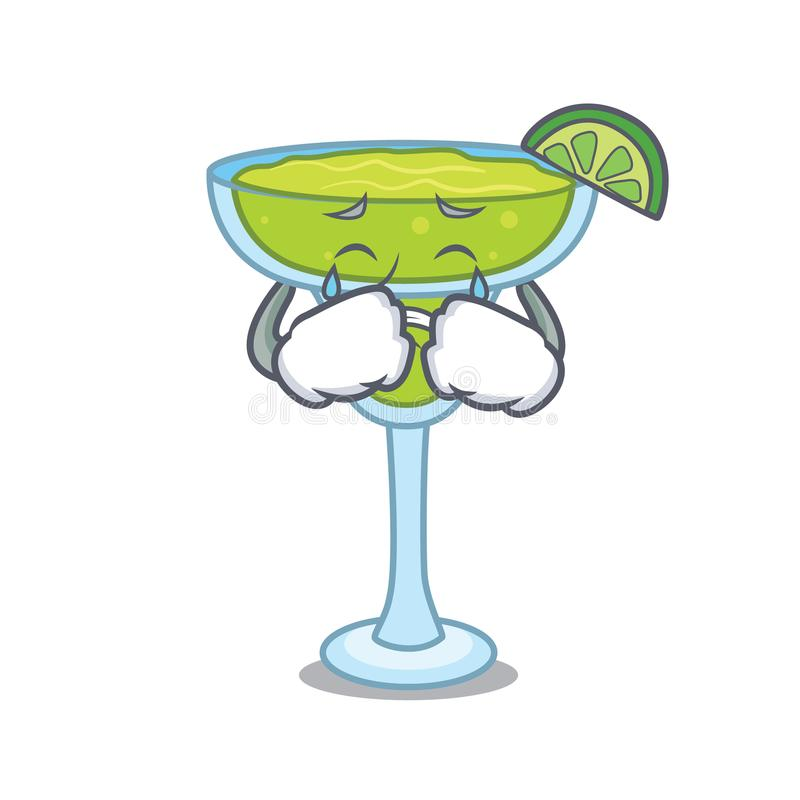 Crying margarita mascot cartoon style. Vector illustration royalty free illustration