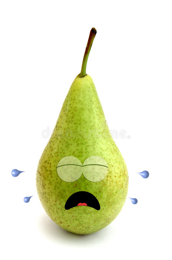 Download Crying pear stock illustration. Illustration of aggrieved - 22134636