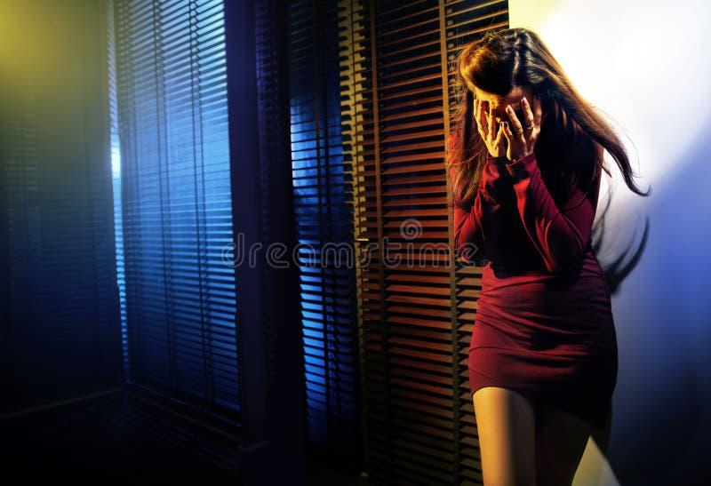 crying portrait woman στοκ φωτογραφία με δικαίωμα ελεύθερης χρήσης