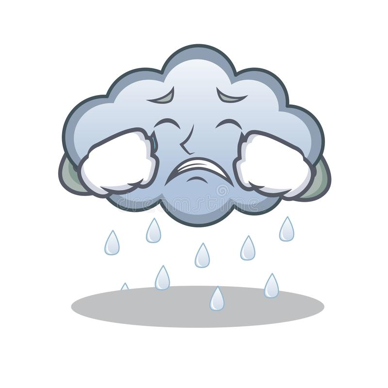crying rain cloud character cartoon stock vector illustration of rh dreamstime com rain cloud follows cartoon rain cloud following cartoon