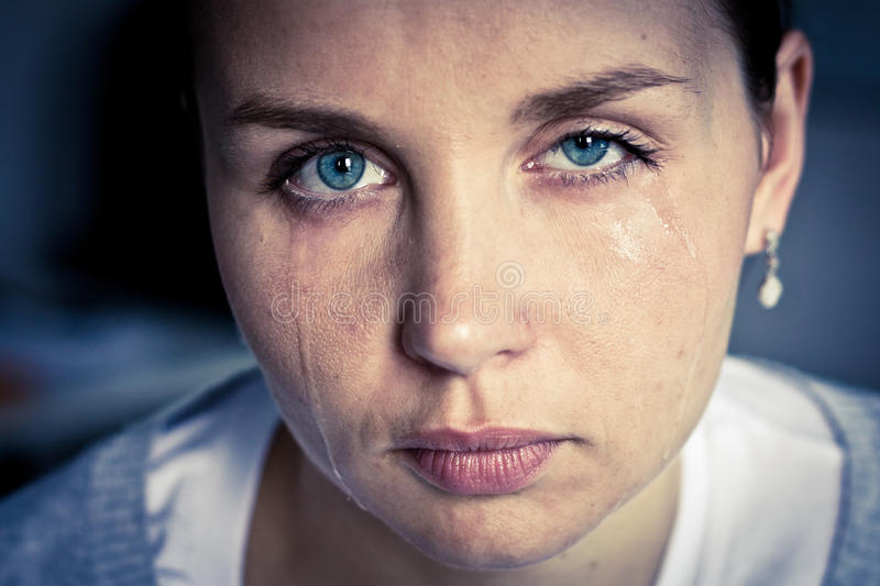 Crying woman stock photos