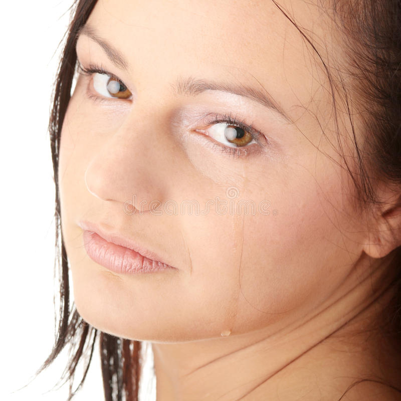 Crying young woman stock photography