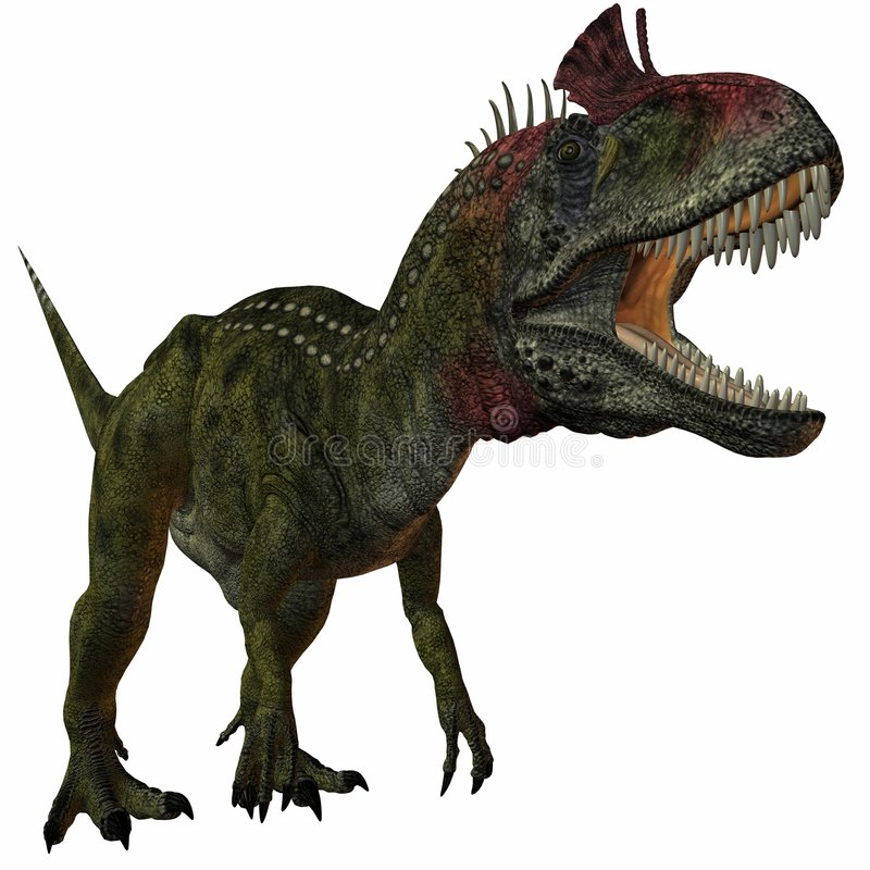 Cryolophosaurus illustration de vecteur