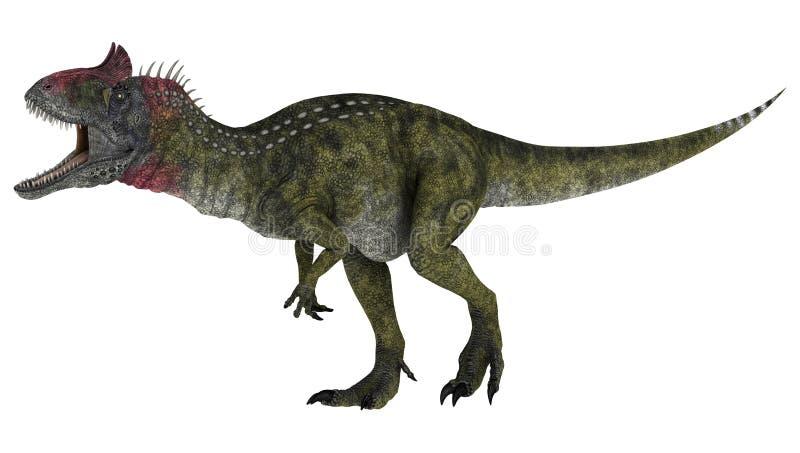Cryolophosaurus del dinosaurio stock de ilustración