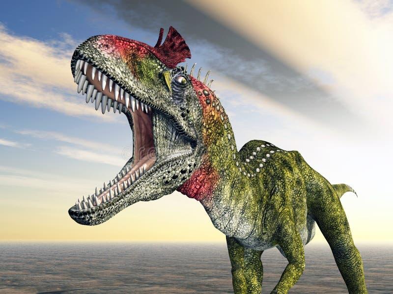 Cryolophosaurus del dinosauro illustrazione di stock