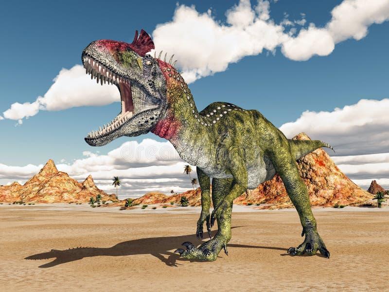 Cryolophosaurus del dinosauro illustrazione vettoriale