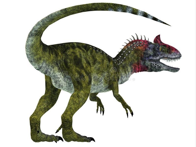 Cryolophosaurus dinosaura ogon ilustracja wektor