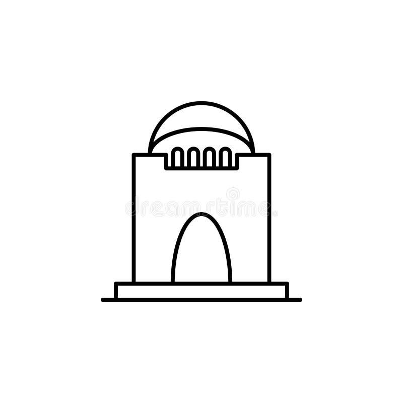 crypt, śmiertelna kontur ikona szczegółowy set śmiertelne ilustracji ikony Mo?e u?ywa? dla sieci, logo, mobilny app, UI, UX royalty ilustracja