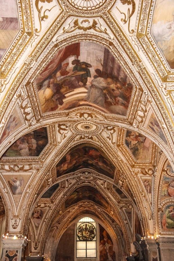 crypt Καθεδρικός ναός Αγίου Andrew Αμάλφη Ιταλία στοκ φωτογραφία με δικαίωμα ελεύθερης χρήσης