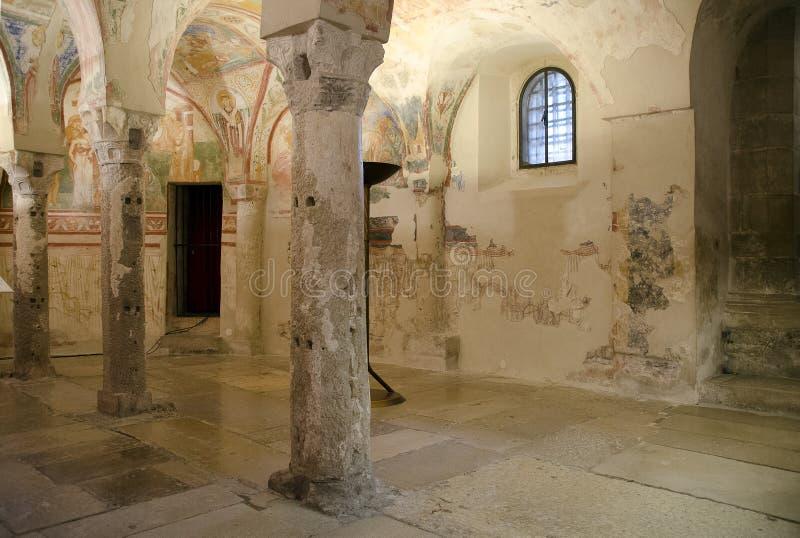 Crypt of the Basilica di Santa Maria Assunta royalty free stock images