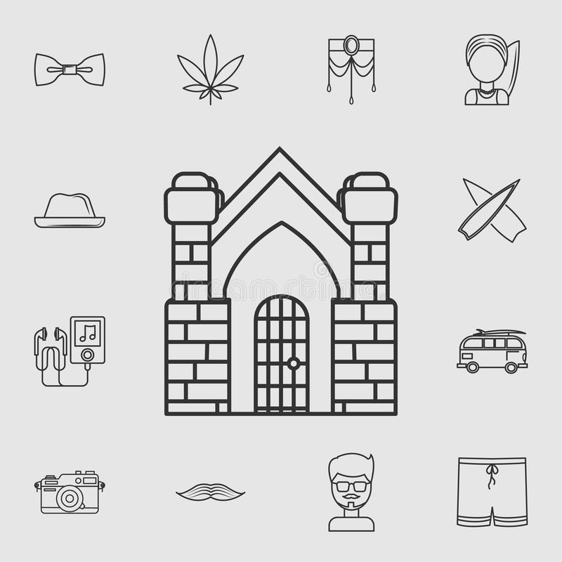 Crypt building icon. Detailed set of life style icons. Premium quality graphic design. One of the collection icons for websites, w. Eb design, mobile app on grey royalty free illustration