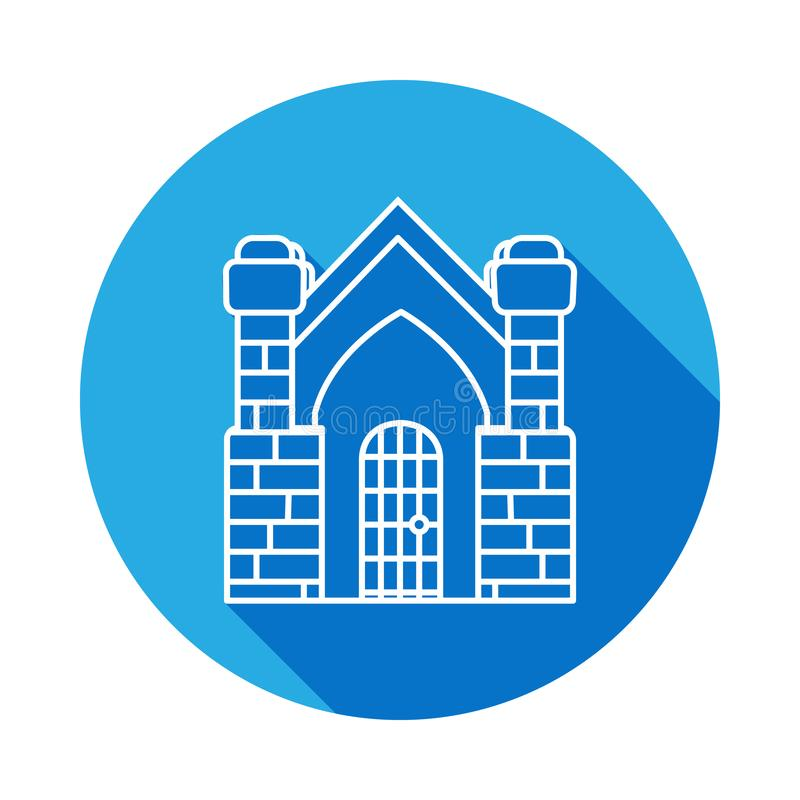 Crypt building icon with long shadow lifestyle. Crypt building icon with long shadow. on white background vector illustration