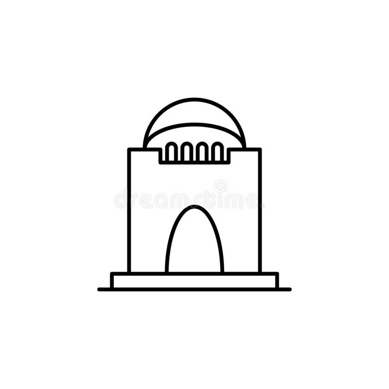 Crypt, death outline icon. detailed set of death illustrations icons. can be used for web, logo, mobile app, UI, UX. On white background royalty free illustration