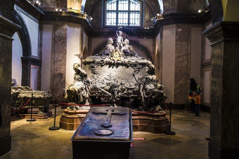 Crypt Habsburger królewiątka w Wiedeń fotografia royalty free