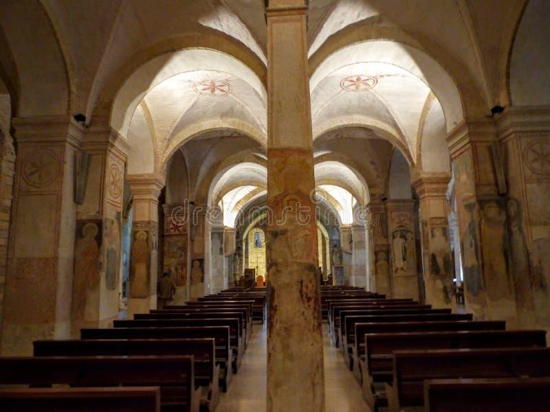 Crypt kościół San Zeno w Verona, Włochy obraz stock