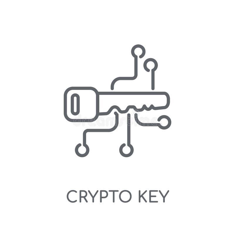 cryptische sleutel lineair pictogram Modern het embleemconcept o van de overzichtscryptische sleutel royalty-vrije illustratie