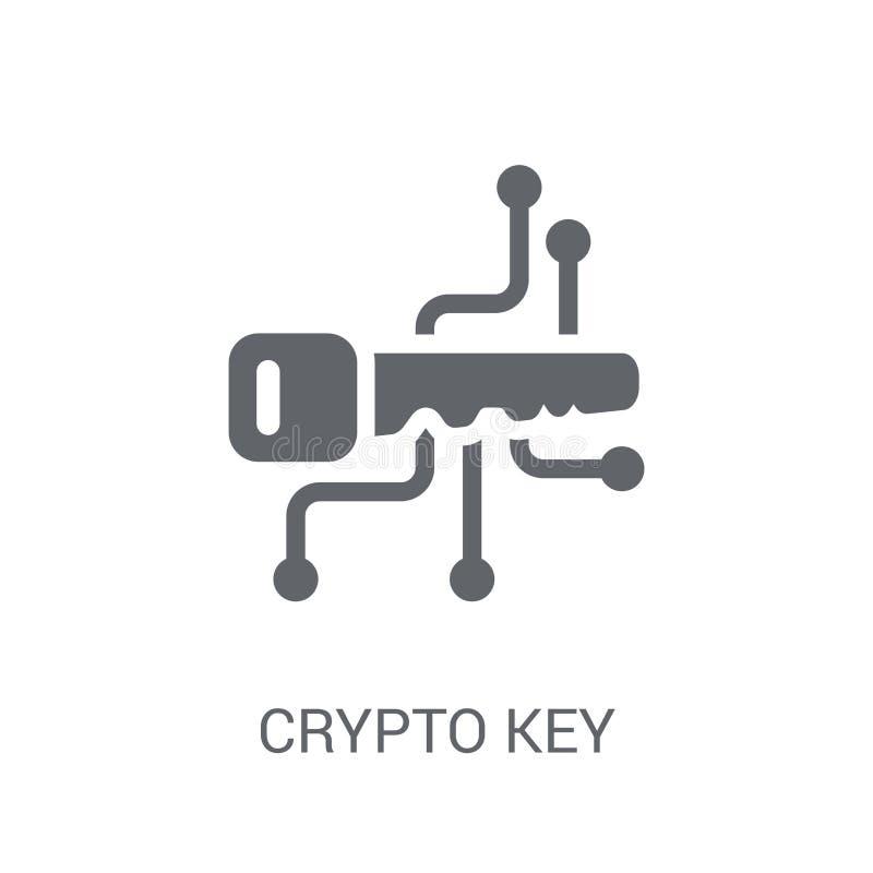 cryptische sleutelpictogram Het in concept van het cryptische sleutelembleem op witte backgro vector illustratie