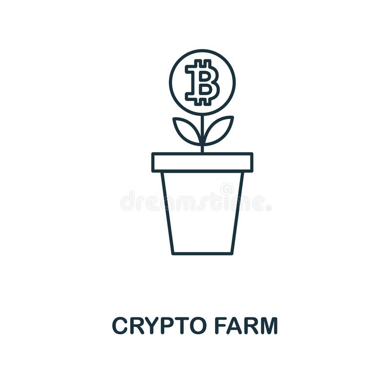 Crypto εικονίδιο αγροτικών περιλήψεων Μονοχρωματικό σχέδιο ύφους από crypto τη συλλογή εικονιδίων νομίσματος Ui Τέλεια απλή περίλ απεικόνιση αποθεμάτων