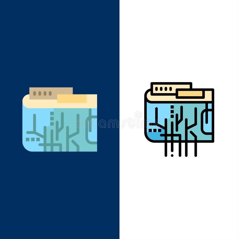 Crypto νόμισμα, νόμισμα, ψηφιακό, Διαδίκτυο, πολυ εικονίδια Επίπεδος και γραμμή γέμισε το καθορισμένο διανυσματικό μπλε υπόβαθρο  ελεύθερη απεικόνιση δικαιώματος