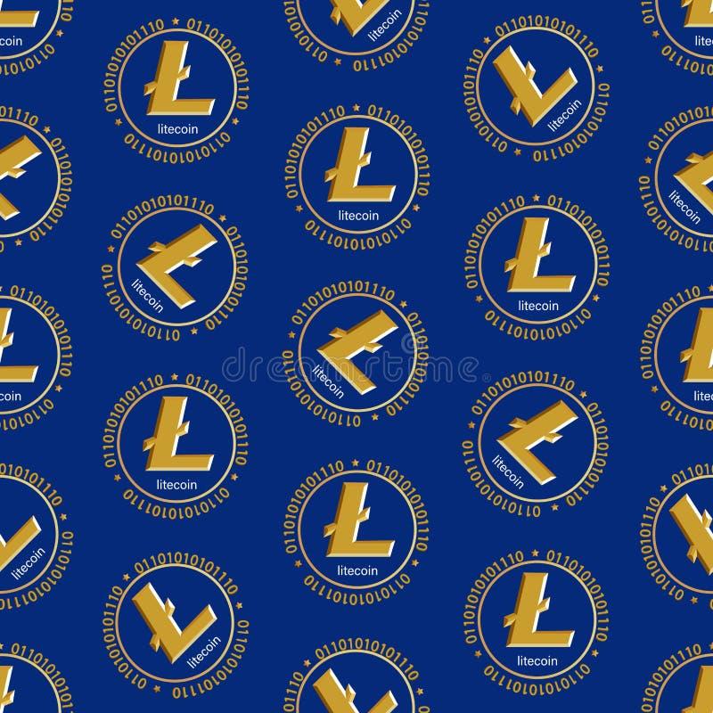 Crypto-νόμισμα litecoin Σύμβολο του ψηφιακού νομίσματος διανυσματική απεικόνιση