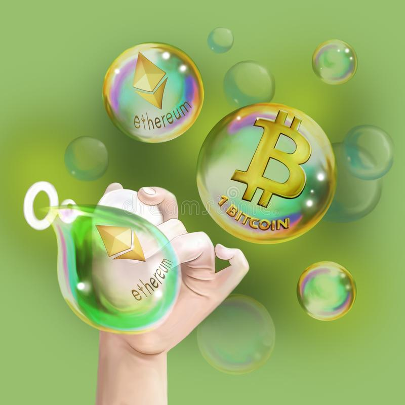 Crypto-currencies vector illustration