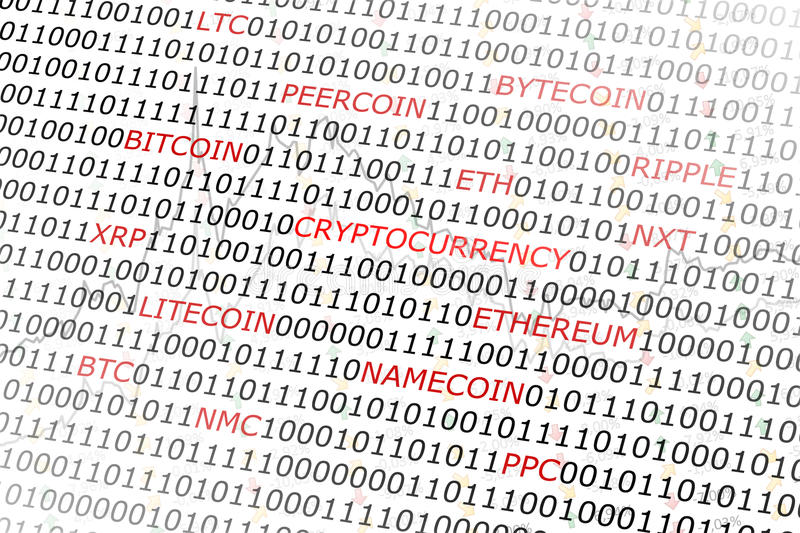 Crypto currency background stock image