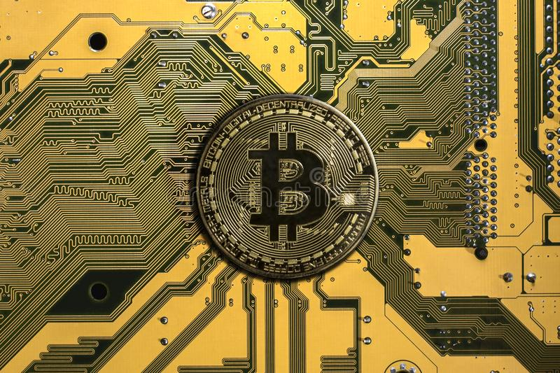 Crypto currency bitcoin stock photography