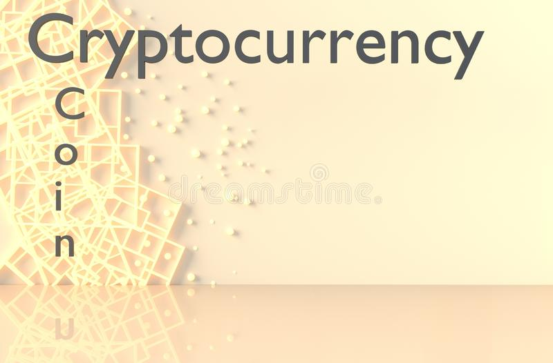 Cryptocurrency and coin background. 3d render. stock photos