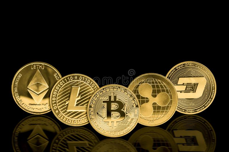 Crypto currency coin royalty free stock photo