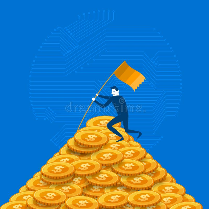 Crypto_Currency_10 stock illustration