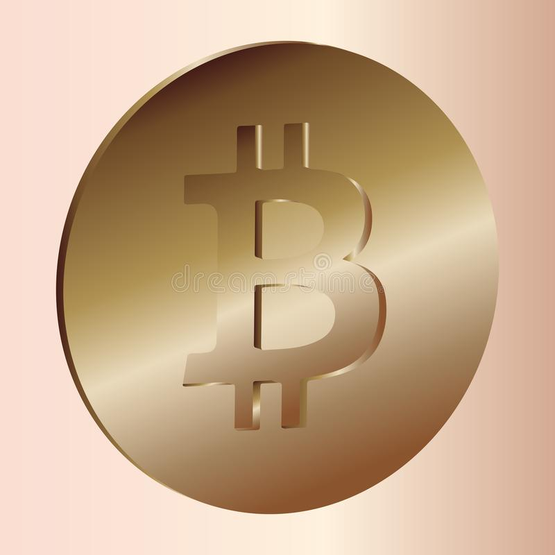 Crypto currency gold bitcoin Vector illustration royalty free illustration
