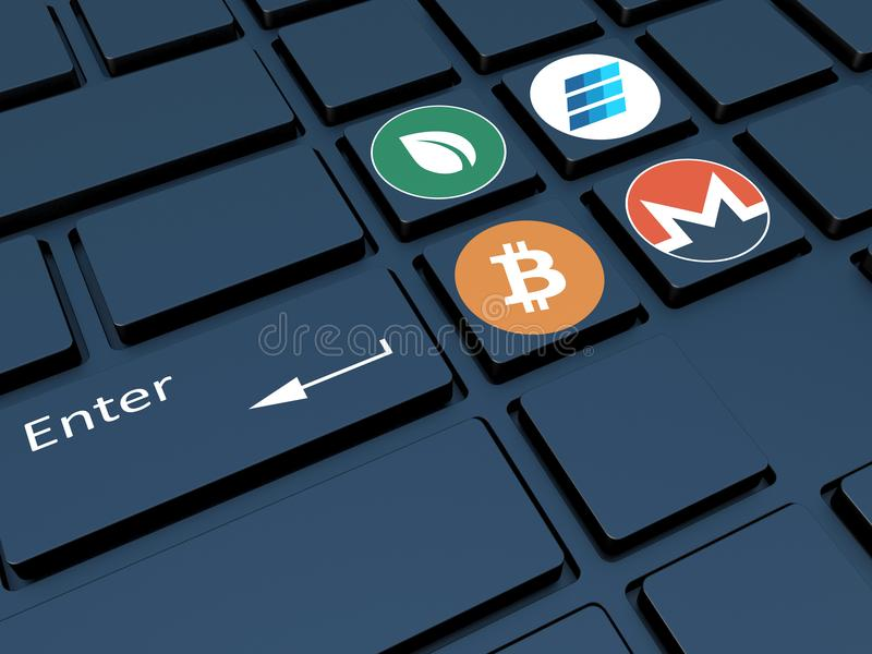 Crypto Currency Keyboard With Symbols Mining Of Crypto Currenc