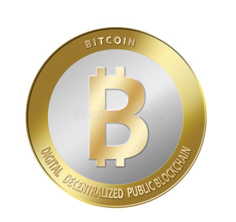 Crypto devise de Bitcoin images libres de droits