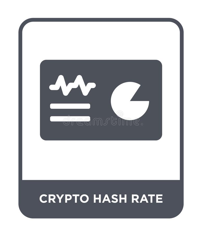 crypto hash rate icon in trendy design style. crypto hash rate icon isolated on white background. crypto hash rate vector icon vector illustration