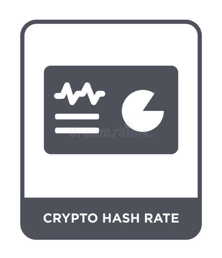 crypto hash tempa ikona w modnym projekta stylu crypto hash tempa ikona odizolowywająca na białym tle crypto hash tempa wektoru i ilustracja wektor
