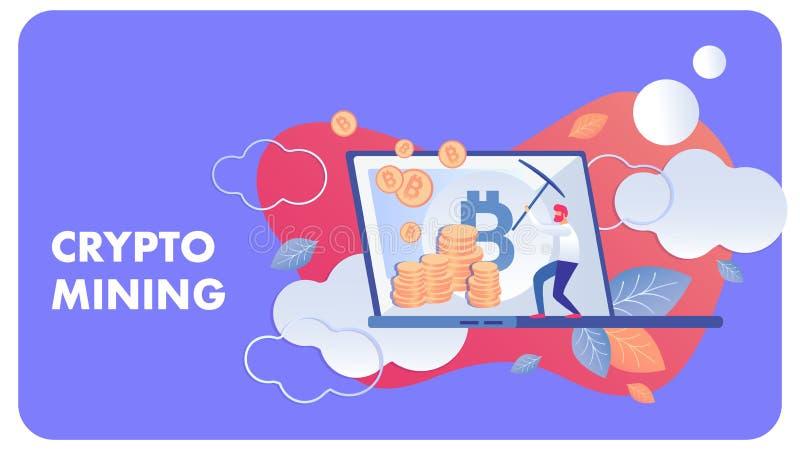 Crypto illustration plate de extraction de vecteur d'affaires illustration stock