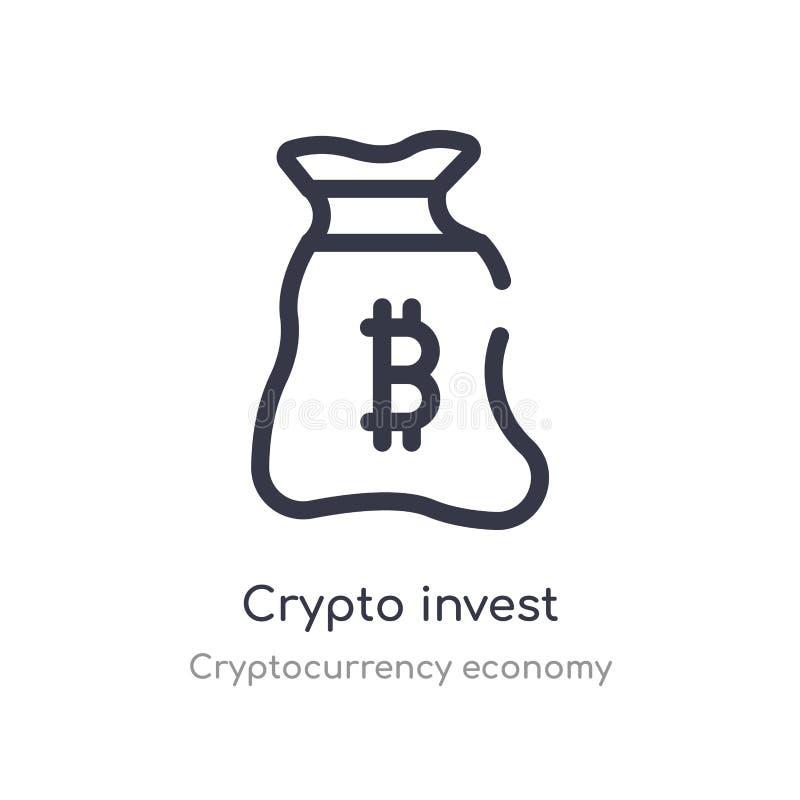 crypto invierta el icono del esquema l?nea aislada ejemplo del vector de la colecci?n de la econom?a del cryptocurrency movimient stock de ilustración