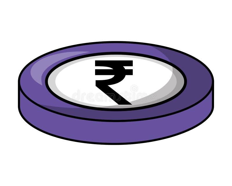 Crypto isometric εικονίδιο χρημάτων στοκ εικόνα