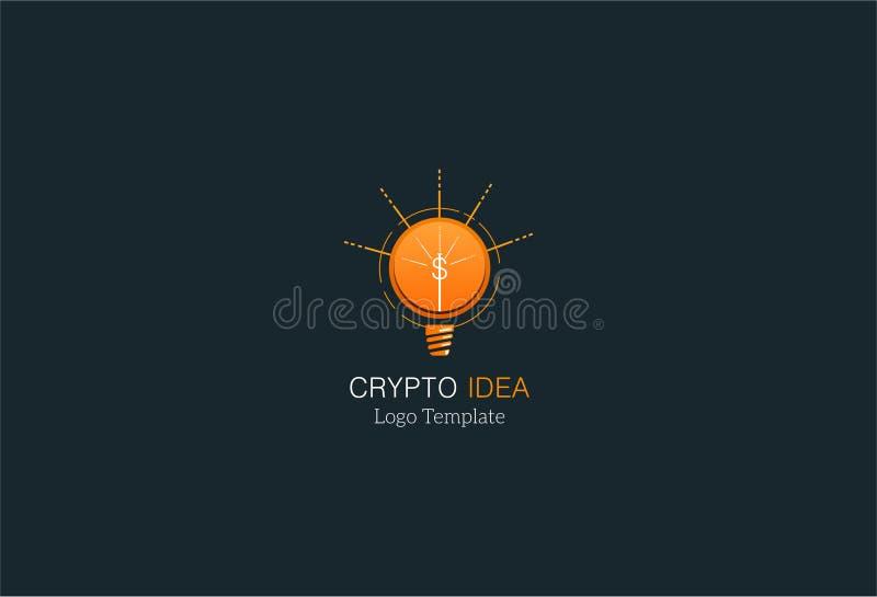 crypto loga szablon zdjęcie stock