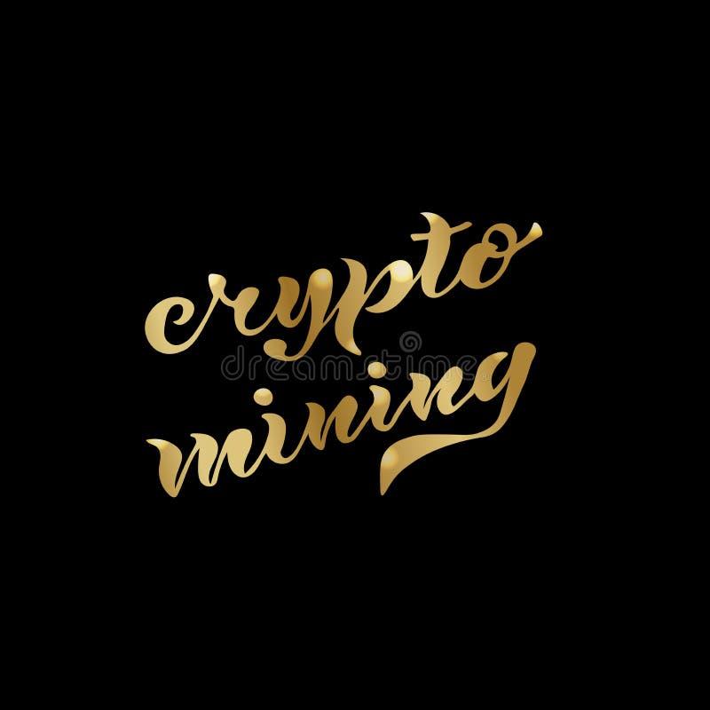 Crypto mijnbouwgoud stock fotografie
