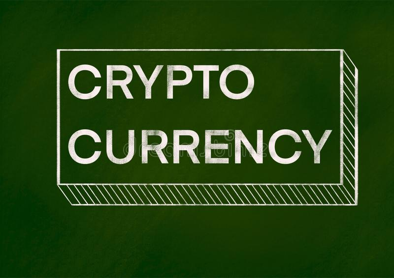 Crypto Munt achtergrondconcept vector illustratie