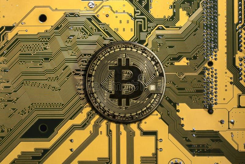 Crypto munt bitcoin stock fotografie