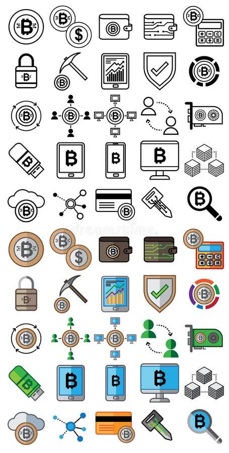 Crypto munt en crypto marktsymbolen voor ontwerpgebruik stock fotografie