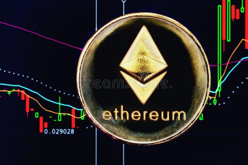Crypto munt Ethereum royalty-vrije stock foto