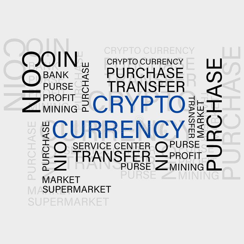 Crypto munt Virtuele munt royalty-vrije illustratie