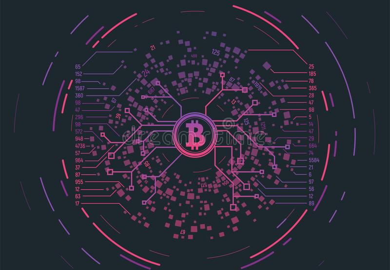 Crypto muntconcept royalty-vrije illustratie